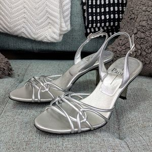 Linea Paolo Slingback Silver Sandals